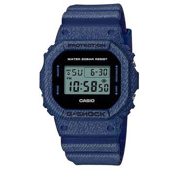 【CASIO】G-SHOCK 單寧設計休閒錶-西部牛仔 (DW-5600DE-2)