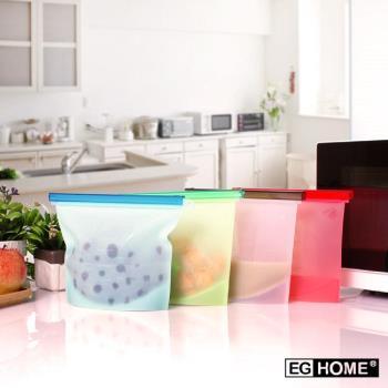 EG Home 宜居家 耐熱矽膠食物密封保鮮袋1000ml(8入)