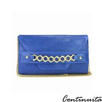 【Continuita 康緹尼】 時尚金飾晚宴包 -藍色