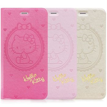 GOMO Hello Kitty iPhone 6/6S 4.7吋 -可立式摺疊皮套-愛心系列