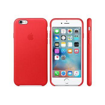 Apple 原廠 iPhone6 / 6S case 適用 皮革保護套(紅色-盒裝)