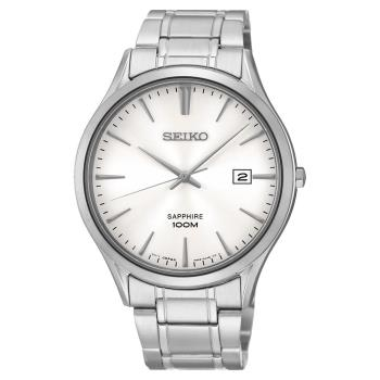 SEIKO 時尚玩家藍寶石水晶腕錶 銀 40mm 7N42-0FW0S SGEG93P1