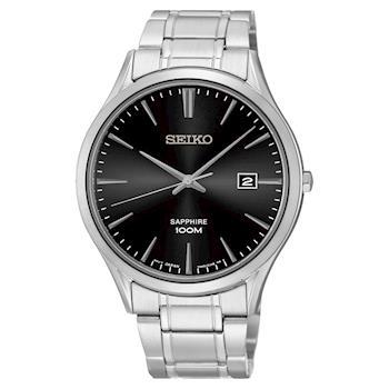SEIKO 時尚玩家藍寶石水晶腕錶 黑 40mm 7N42-0FW0D SGEG95P1