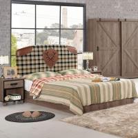 【時尚屋】[C7]哈麥德5尺雙人床C7-501-1不含床頭櫃-床墊/免運費/免組裝/臥室系列