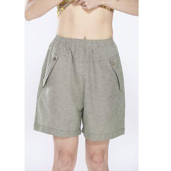 蘭陵日系自然風顯瘦寬版短褲