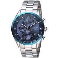 ALBA雅柏日系潮流三眼計時腕錶-藍 VD57-X106B AM3461X1
