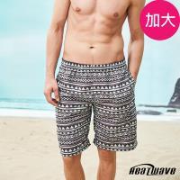 Heatwave熱浪 加大男海灘褲 紳灰咖-A251