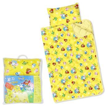 【BabyTiger虎兒寶】MIT卡通幼教兒童枕頭+棉被組- POLI 救援小英雄 波力 / 涼被組