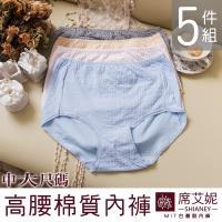 【席艾妮SHIANEY】女性中大尺碼內褲 媽媽褲 台灣製造 No.926(5件組)