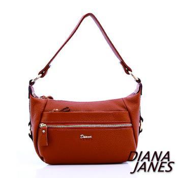 【Diana Janes 黛安娜】頭層牛皮多袋斜揹包