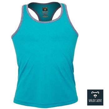 【VALOR BEAR】台灣製涼感吸濕排汗背心/寬鬆無腰身/中性款S-XL-(湖藍綠116款)