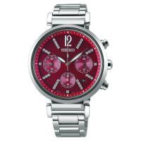 SEIKO精工 LUKIA 太陽能夏日限定計時女錶 紅 36mm V175-0EF0R SSVS029J