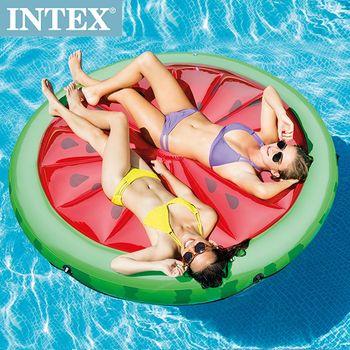 INTEX 西瓜戲水浮排183*23cm (56283)