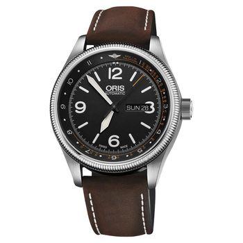 Oris豪利時 皇家醫療飛行團隊II限量機械錶 黑x咖啡錶帶 45mm 0173577284084-SETLS
