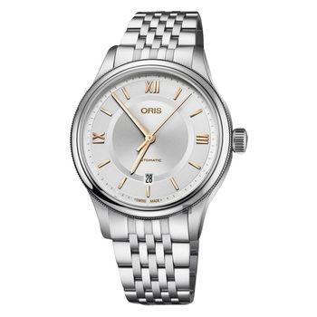 Oris豪利時 Classic 文化系列日期機械錶 銀 42mm 0173377194071-0782010