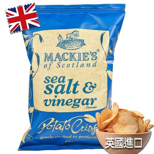 英國Mackies-經典洋芋片海鹽醋酸口味(1箱24入)