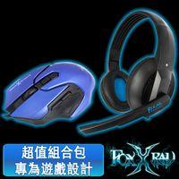 FOXXRAY 極地響狐電競耳麥滑鼠組(FXR-CAM-05/極地藍)