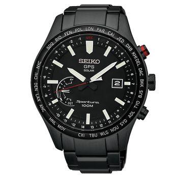 SEIKO精工 Sportura GPS衛星定位太陽能腕錶 45mm 8X22-0AC0SD SSF005J1