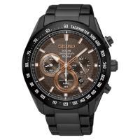 SEIKO精工 Criteria 太陽能計時手錶 鍍黑 43mm V175-0EE0KS SSC587P1