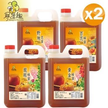 【尋蜜趣】嚴選蜂蜜1200g輕量包裝任選2入組(龍眼/黃金/野地/百花)