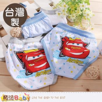 魔法Baby 男童內褲(四件一組) 台灣製閃電麥坤正版純棉三角內褲~k50550