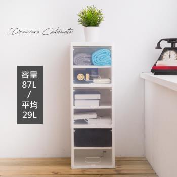 【時尚屋】[KW7]中村滑門式三層收納櫃KW7-LT362 免運費/台灣製/收納櫃