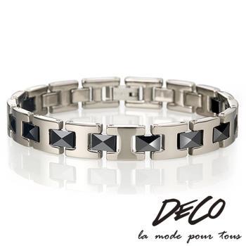 DECO X MASSA-G【永恆印記】黑色陶瓷純鈦手環