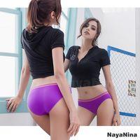 【Naya Nina】運動內褲 無縫彈力低腰內褲S-XL(紫)