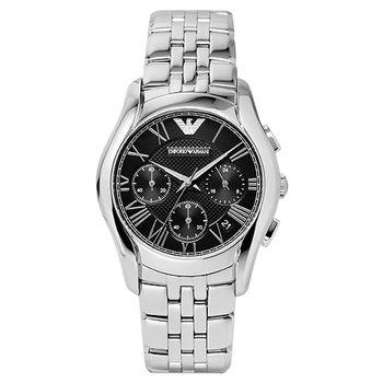 ARMANI Classic 羅馬計時腕錶 黑 AR1791