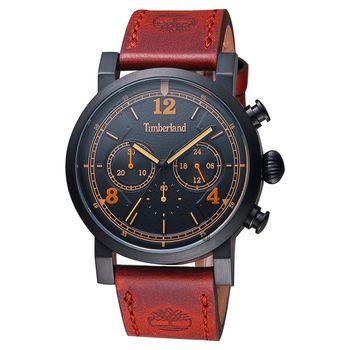 Timberland Templeton 率性計時腕錶 黑x棗紅 43mm TBL.14811JSB/02