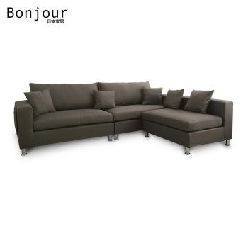 【日安家居】Agnes愛葛妮絲收納式L型布沙發2+2+1/四色
