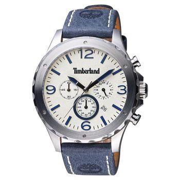 Timberland Warner 慢跑生活計時腕錶 米x藍 46mm TBL.14810JS/07