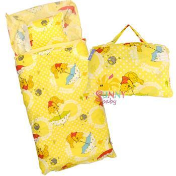 【Sunnybaby生活館】- 卡通造型幼教兒童睡袋-小熊維尼(撐傘篇)