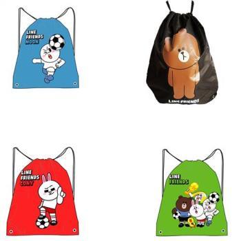 【LINE】足球系列環保購物袋束口後背包束口袋束口帶摺疊購物袋(4款可選)