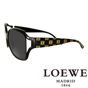 LOEWE 西班牙皇室品牌羅威經典LOGO太陽眼鏡(黑) - SLW705-0Z42