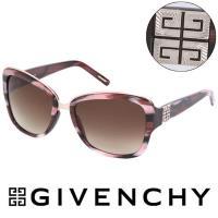 GIVENCHY 法國魅力紀梵希都會玩酷大理石紋浪漫造型太陽眼鏡 - (紅) GISGV82707L3