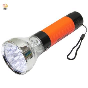 月陽大型充電式9+4強光聚焦LED手電筒露營燈小夜燈NM-1477