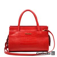 【Continuita 康緹尼】高雅鱷魚紋手提包-紅色/黑色/藍色