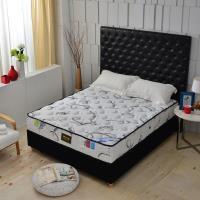 A+愛家-瑞士Sanitized涼感長效型抗菌除臭 側邊強化獨立筒床墊-雙人五尺-護腰麵包床