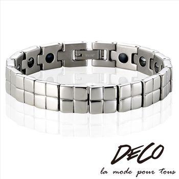 DECO X MASSA-G【銀色情迷】頂級白鋼健康手環