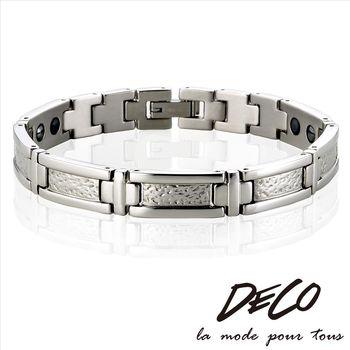 DECO X MASSA-G【銀色世紀】頂級白鋼健康手環