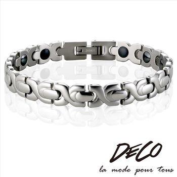 DECO X MASSA-G【銀色時刻】頂級白鋼健康手環
