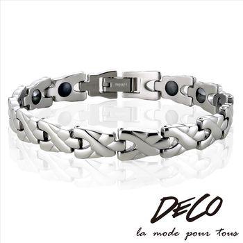 DECO X MASSA-G【銀色魔幻】頂級白鋼健康手環
