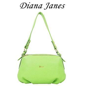 Diana Janes 牛皮個性皮紋多層女包-綠