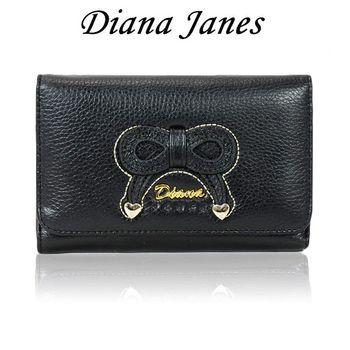 Diana Janes 牛皮蝴蝶結多用中夾