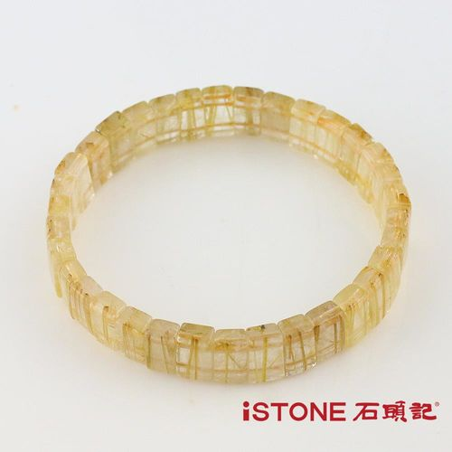 石頭記 天然鈦晶板型手鍊 業務必備