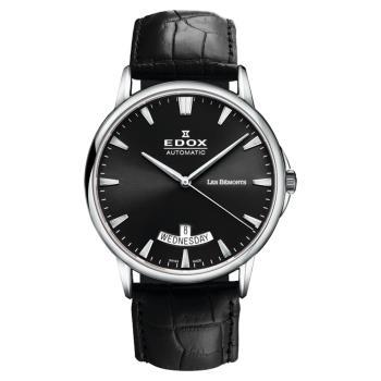 EDOX Les Bemonts 薄曼系列機械腕錶 黑 E83015.3.NIN