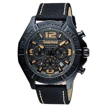 Timberland Men Quartz三眼計時腕錶 黑 45mm TBL.14655JSB/61