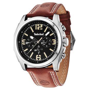 Timberland Houston 時空潮流日曆腕錶 黑x咖啡 47mm TBL.14366JS/02A