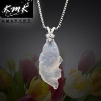 KMK天然寶石~年年有餘~ 天然白玉髓~項鍊